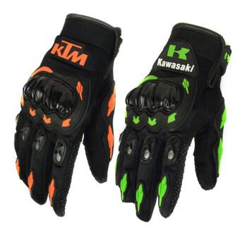 Moto Racing Gloves Summer Winter Full Finger Gants Moto Luvas Motocross Leather Motorbike Guantes (COLOR: Green SIZE: XXL) - intl