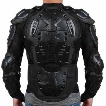 Motorcycle Full Body Armor Jacket Spine Chest Shoulder Protection Riding Gear - intl