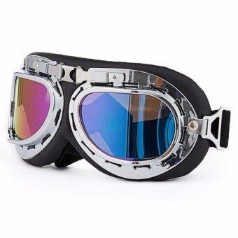 Motorcycle half-cover helmet & Gogglesหมวกกันน็อคครึ่งใบพร้อมแว่นกันลมเลนส์ใส ขนาดศรีษะ 54-60 ซม. แถมฟรีแว่นกันลมเลนศ์ปรอท - 5