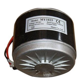 Motors Accessories 24V Dc Electric Motor Brushed 250W 2650Rpm2-Wired Chain For E Bike Scooter - intl