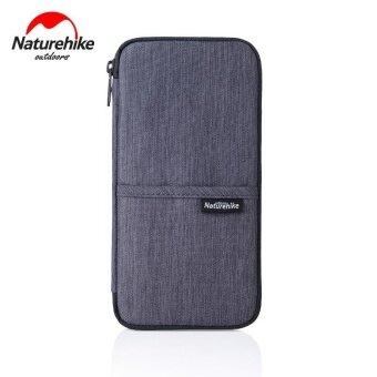 Multi - functional passport bag waterproof card wallet travel ticket folder protective cover Grey - intl
