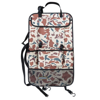 Multi Pocket Car Seat Back Organizer Backseat Driving Accessory\nTool Storage Bag for iPad Snacks Cans Holder Camouflage