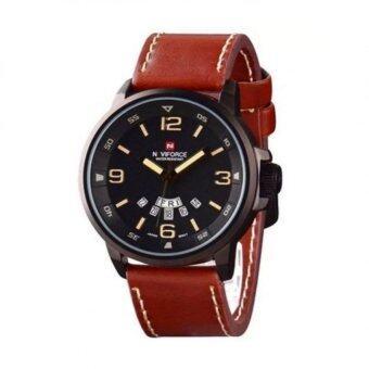 ซื้อ/ขาย NAVIFORCE นาฬิกาข้อมือผู้ชาย สีน้ำตาล สายหนัง รุ่น GYNF