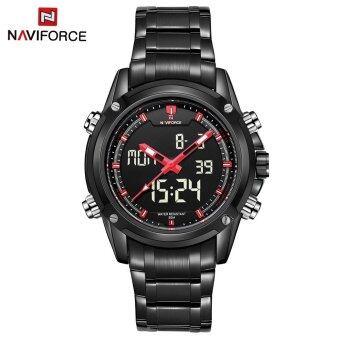 NAVIFORCE NF9050 Movt คู่ชาย Quarz นาฬิกาดิจิตอล Led คล้ายคลึงสีแดงสีดำ