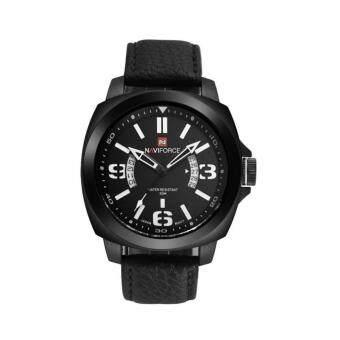 2561 NAVIFORCE WATCH นาฬิกาข้อมือผู้ชาย เครื่องญี่ปุ่น กันน้ำ100% สายหนังสีดำ รุ่น NF9062BB