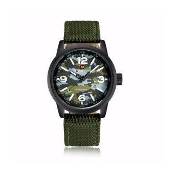 ซื้อ/ขาย NAVIFORCE WATCH นาฬิกาข้อมือผู้ชาย เครื่องญี่ปุ่น กันน้ำ100% สายไนล่อน รุ่น NF9080GREEN