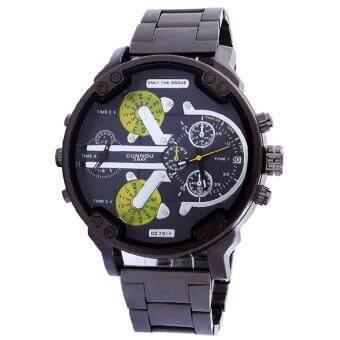 Neptune นาฬิกาข้อมือ นาฬิกาแฟชั่น ผู้ชาย สายสแตนเลส สีดำ Fashion Casual Stainless Steel Quartz Analog Men Luxury Wrist Watch (Black Black)