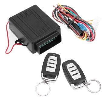 New Car Door Lock Keyless Entry System Auto Remote Central ControlKits (Black) - intl