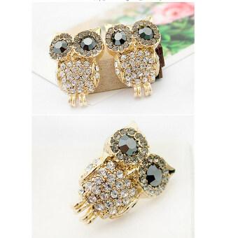 New Hot Retro Owl Cute Rhinestone Stud Earrings