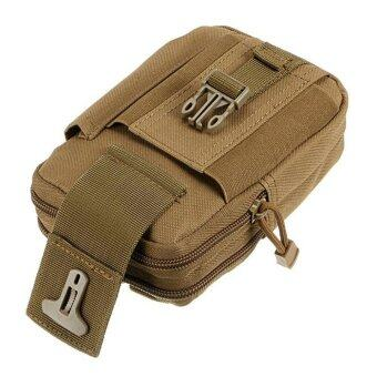 niceEshop Men's Outdoor Camping Bag Hiking Pouch Military ArmyWaist Pack with Belt Loop,Khaki - intl