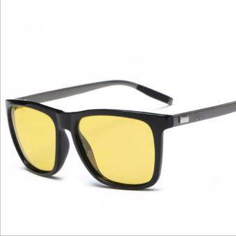 Night Vision Sun Glasses Brand Designer Alloy Frame sunglasses Women and Men UV400 Polaroid Lens 2140 (black frame) - intl