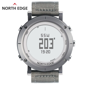 NORTHEDGE Digital Watches Men Watch with Heart Rate monitor Compass Altimeter Barometer Thermometer Altitude for Climbing Hiking Fishing Running Outdoor sports waterproof