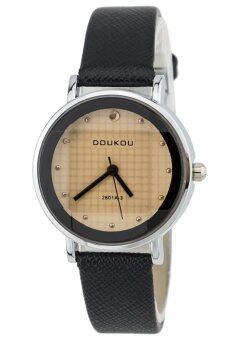 NS WATCH นาฬิกาข้อมือหญิง Minimal DOUKOU สายดำ 32mm.