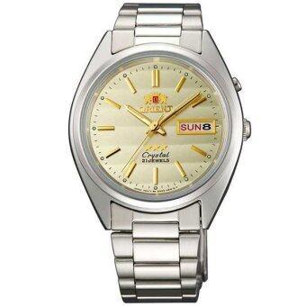 2561 Orient 3 Star Automatic นาฬิกาข้อมือผู้ชาย สายสแตนเลส รุ่น FEM0401SC9 (หน้าปัดทอง)