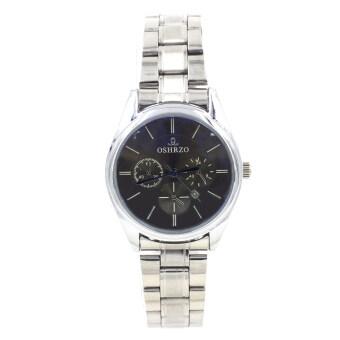 OSHRZO Date Quartz นาฬิกาข้อมือผู้หญิง ระบบวันที่ รุ่น WP8084(Silver/Blue)
