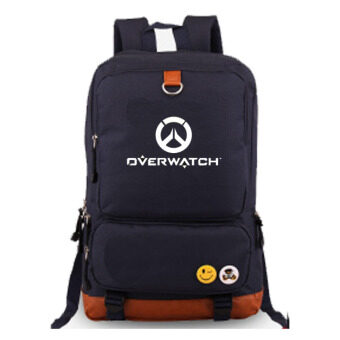 Harga Overwatch Noctilucent Laptop Backpack Canvas Bag Hiking DaypacksShoulder Bags(Blue)
