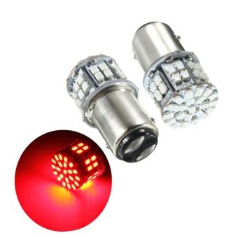 Harga Pack of 2 Super Bright BAY15D 1157 50SMD 1206 LED Car Brake Light,DC 12V 50 LEDs Auto Rear Tail Lights, Red Turn Signal Lamps BulbColor:Red