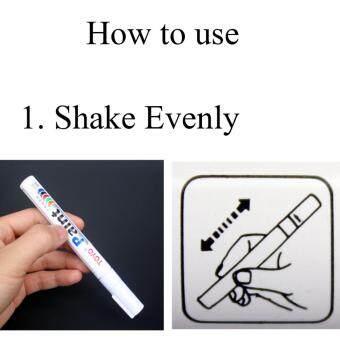 ปากกาเขียนยาง PAINT MARKER ปากกาไว้สำหรับเขียนยาง รถยนต์รถมอเตอร์ไซค์ รถจักรยานยนต์ รถจักรยาน หรือเหล็ก ผ้า พลาสติก ฯลฯเขียนแล้วติดทนนาน(สีขาว) เซต 2 แท่ง รูบที่ 4