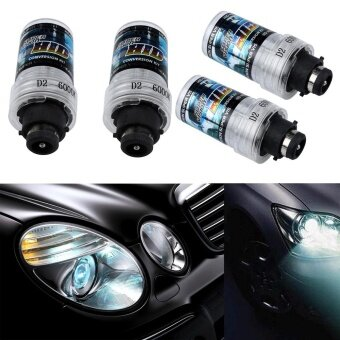 Pair 6000k D2S HID Xenon Bulbs Replace Stock 4300k HID Headlights - intl