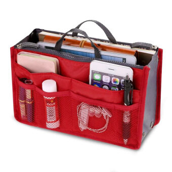 PAlight Cosmetic Pouch Organizer Storage bag (Red)