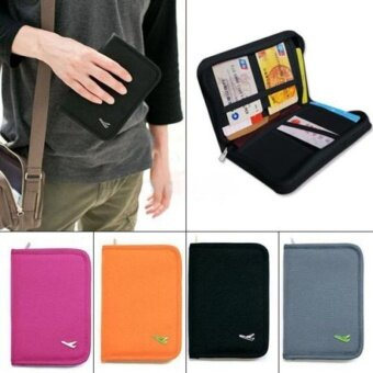 Passport Documents Package Travel Bag Pouch Passport ID Credit CardWallet Cash Holder Organizer Case Box - intl