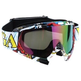 PC Lens ABS Material Frame Stunning Goggles for Motorcycle Rider Cross-country Skier - intl