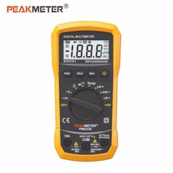 PEAKMETER PM8233E Portable Digital Multimeter Volt AC DCTemperature Tester Meter LCD Display With Backlight Automatic rangeAC Current Tools - intl