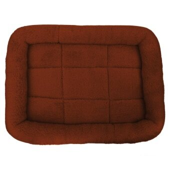 Pet Bed Cushion Mat Pad Dog Cat Cage Kennel Crate Warm Cozy SoftHouse (Coffee) (S) - intl