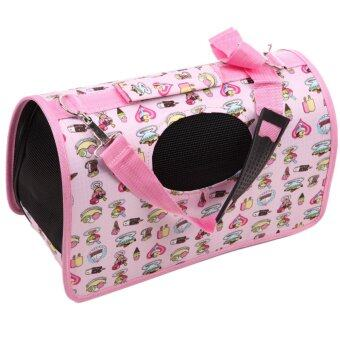 Pet Dog Carrier House Cage(Pink)