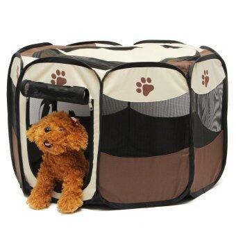 สัตว์เลี้ยงสุนัขหมาบ้านรั้วคอกเตียงนุ่มเล่นลูกสุนัขวิ่งออกกำลังกรงกรงพับบทกวี