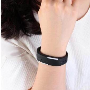 Poca Watch นาฬิกาข้อมือ LED สีดำ สายเรซิ่น กันน้ำได้ 1อ้น