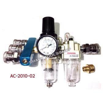 เสนอราคา POWERชุดกรองลมดักน้ำ1/4 รุ่น AC2010-02+คอปเปอร์3ทาง+ข้อเพิ่ม 1/2bspf +คอปเปอร์ลม