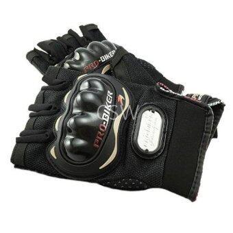 รีวิว Pro Biker ถุงมือมอเตอร์ไซค์ สนับแข็ง ตัดนิ้ว สีดำ ไซส์ XXL จำนวน 1คู่