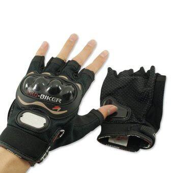 PROBIKER ถุงมือ MCS-04 (ครึ่งนิ้ว) ลิขสิทธิ์แท้ สีดำ