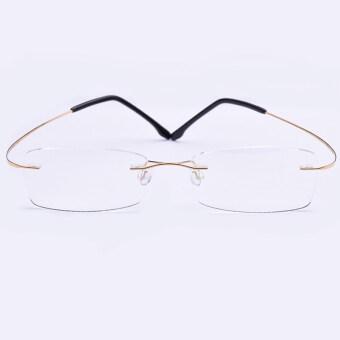 ฉลาดแว่นตากรอบ ultra-light ไทเทเนียมบริสุทธิ์ไร้กรอบ