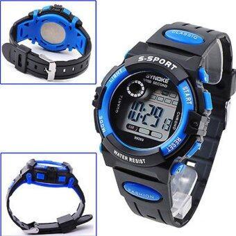 เด็กหนุ่มเด็กสาวหลายฟังก์ชันที่กันน้ำนาฬิกาข้อมืออิเล็กทรอนิกส์กีฬาสีน้ำเงิน (image 2)