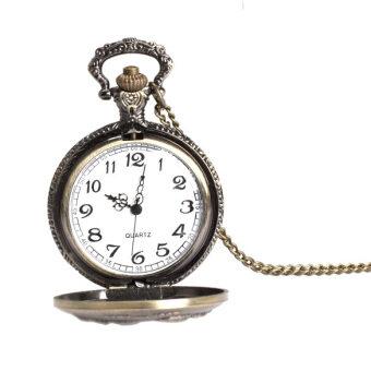 ใบหน้าอันใหญ่สร้อยคอนาฬิกากระเป๋าเรโทรแขวนนาฬิกาควอทซ์เพศ