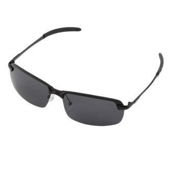 แว่นกันแดดโพลาไรซ์เอชโอคนขับกีฬากลางแจ้งแว่นตาป้องกันแสงสีดำและสีเทาเถ้า