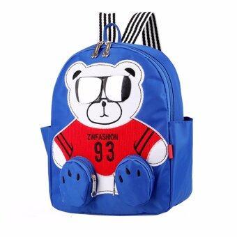 กระเป๋าเป้เด็ก ลายหมีใส่แว่น สุดเก๋ นา่รักมาก ผ้ากันน้ำ ...