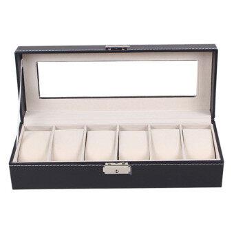 กล่องเก็บของที่มีหน้าต่างหลังคา สำหรับใส่เครื่องประดับ นาฬิกา