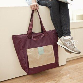 หญิงพับเก็บได้หลายฟังก์ชั่นสุดกระเป๋าสะพายไหล่แพคเกจแพคเกจการออกกำลังกาย