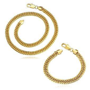 ต้องการขายด่วน PS421-A Fashion Nickel and lead free mixed styles 18k gold plating jewelry set