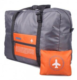 Purify กระเป๋าสำหรับเดินทางแบบพับได้ สามารถล็อคกับกระเป๋าเดินทางได้ (ขนาดความจุ 32ลิตร สีส้ม)
