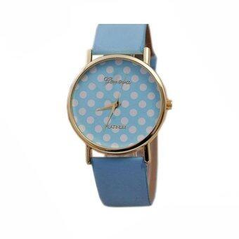 2561 Quartz Modern and Colorful Watch MAME QB5-46 (Pastel Blue/White)