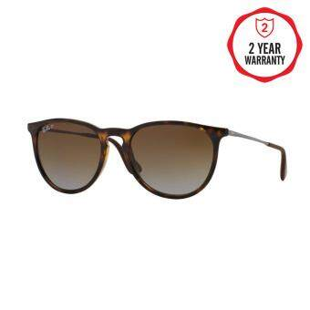 Ray-Ban แว่นกันแดด รุ่น Erika (F) RB4171F - Light Havana (710/T5) Size 54 Polar Brown Gardient