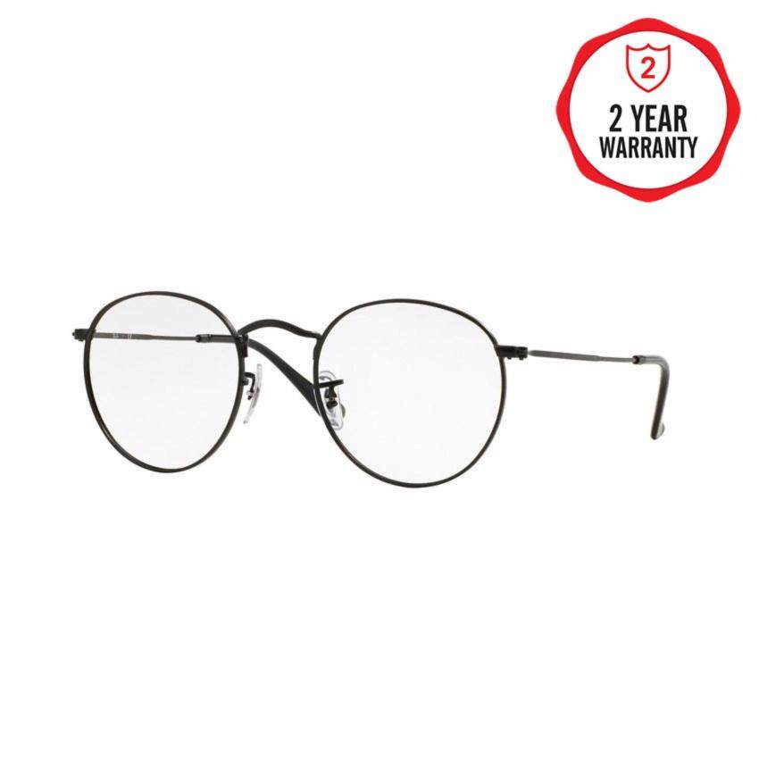 Ray-Ban แว่นสายตา รุ่น  Round Metal RX3447V - Matte Black (2503) Size 50 Demo Lens