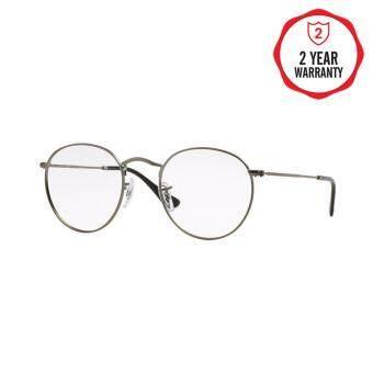 Ray-Ban แว่นสายตา รุ่น Round Metal RX3447V - Matte Gunmetal (2620) Size 50 Demo Lens
