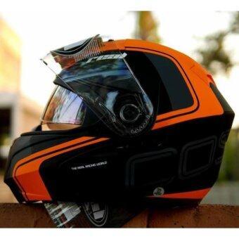 REAL helmet หมวกกันน็อค Real COSMO R สี ส้ม (Big Bike and motorcycle Helmet)