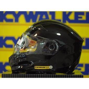 หมวกกันน็อค Real รุ่น Hornet NO.1 สีดำเงา