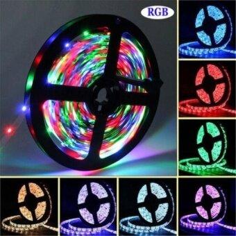ซื้อ RGB 12V 5M 300Leds SMD5050 Non-Waterproof Flexible Led Strip LightsRibbon - intl